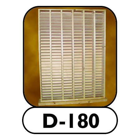 D-180 modular hard drive shelving unit
