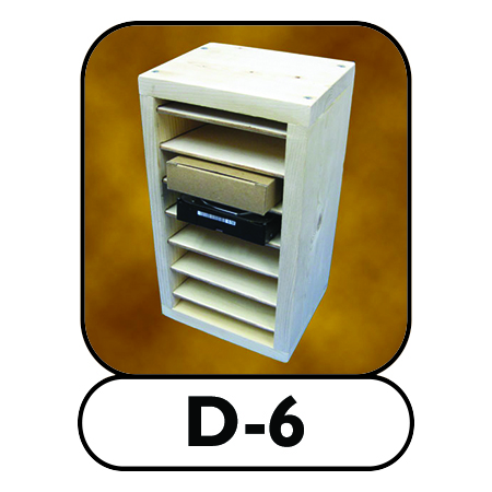 D-6 hard drive storage shelf
