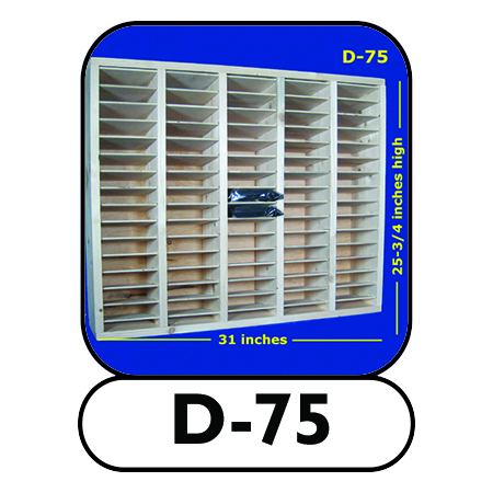 D-75 modular handcrafted hard drive shelf