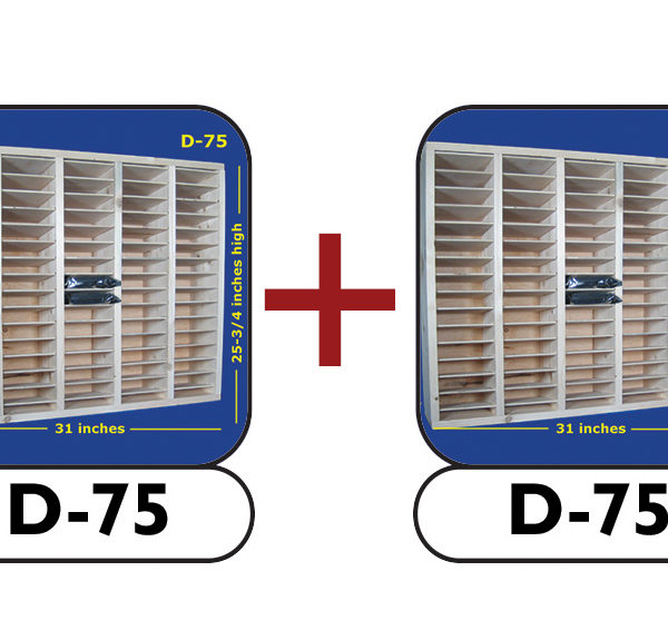 P-150 package bundles two D-75 handcrafted modular hard drive shelves