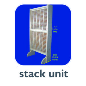 S-2 vertical stack unit holds two D-75 hard drive modules